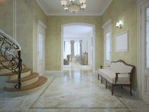 Φωτεινός ακριβός διάδρομος με τα σκαλοπάτια απεικόνιση αποθεμάτων