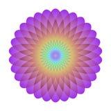 Φωτεινός αφηρημένος κύκλος μωσαϊκών Mandala ουράνιων τόξων λογότυπων Στοκ Εικόνα