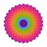 Φωτεινός αφηρημένος κύκλος μωσαϊκών Mandala ουράνιων τόξων λογότυπων Στοκ Φωτογραφία