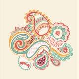 Φωτεινός αφηρημένος τρύγος ταπετσαριών σχεδίων λουλουδιών Στοκ Εικόνες