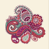 Φωτεινός αφηρημένος τρύγος ταπετσαριών σχεδίων λουλουδιών Στοκ Φωτογραφίες