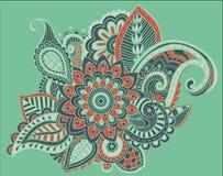 Φωτεινός αφηρημένος τρύγος ταπετσαριών σχεδίων λουλουδιών Στοκ Εικόνα