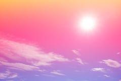 Φωτεινός ζωηρόχρωμος ουρανός κλίσης Στοκ εικόνες με δικαίωμα ελεύθερης χρήσης