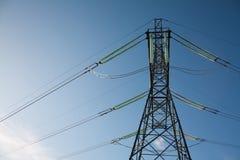 φωτεινός ηλεκτρικός πύργ&omic Στοκ φωτογραφίες με δικαίωμα ελεύθερης χρήσης