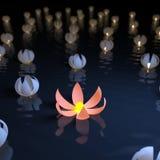 φωτεινός μοναδικός λουλουδιών Στοκ Εικόνες