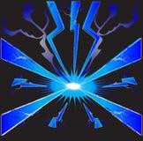 Φωτεινός μπλε κεραυνός απεικόνιση αποθεμάτων