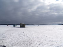 φωτεινός πάγος αλιείας Στοκ φωτογραφία με δικαίωμα ελεύθερης χρήσης