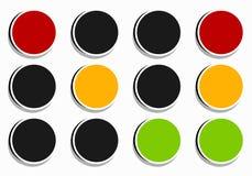 Φωτεινός σηματοδότης, εικονίδιο λαμπτήρων κυκλοφορίας στο σύνολο Σηματοφόρος με πράσινο, Υ διανυσματική απεικόνιση