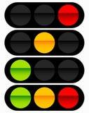 Φωτεινός σηματοδότης, εικονίδιο λαμπτήρων κυκλοφορίας στο σύνολο Σηματοφόρος με πράσινο, Υ απεικόνιση αποθεμάτων