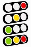 Φωτεινός σηματοδότης, εικονίδιο λαμπτήρων κυκλοφορίας στο σύνολο Σηματοφόρος με πράσινο, Υ ελεύθερη απεικόνιση δικαιώματος