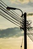 Φωτεινός σηματοδότης ως σκιαγραφία Στοκ Εικόνα