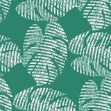 Φωτεινό άνευ ραφής διανυσματικό σχέδιο με τα τροπικά φύλλα στοκ φωτογραφία με δικαίωμα ελεύθερης χρήσης
