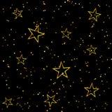 Φωτεινό άνευ ραφής σχέδιο αστεριών διακοπών Στοκ Φωτογραφίες
