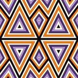 Φωτεινό άνευ ραφής σχέδιο με τη συμμετρική γεωμετρική διακόσμηση αφηρημένη ανασκόπηση ζωηρόχρωμη Εθνικά και φυλετικά μοτίβα Στοκ Εικόνες