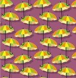Φωτεινό άνευ ραφής σχέδιο ομπρελών Στοκ Εικόνα