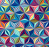 Φωτεινό άνευ ραφής σχέδιο των γεωμετρικών μορφών Το χρώμα δημιουργεί τα στοιχεία όγκου Στοκ φωτογραφία με δικαίωμα ελεύθερης χρήσης