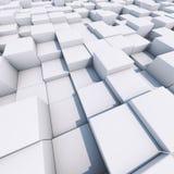 Φωτεινό άσπρο τρισδιάστατο επιχειρησιακό υπόβαθρο κύβων Στοκ εικόνα με δικαίωμα ελεύθερης χρήσης