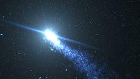 Φωτεινό αστέρι με τον έναστρο ουρανό ελεύθερη απεικόνιση δικαιώματος