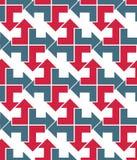 Φωτεινό αφηρημένο άνευ ραφής σχέδιο με τα βέλη Διανυσματική ταπετσαρία W Στοκ Εικόνα