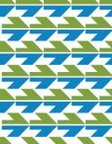 Φωτεινό αφηρημένο άνευ ραφής σχέδιο με τα βέλη Διανυσματική ταπετσαρία W Στοκ Φωτογραφίες
