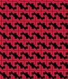 Φωτεινό αφηρημένο άνευ ραφής σχέδιο με τα κόκκινα βέλη Διανυσματικά contras Στοκ Φωτογραφία