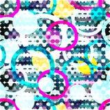 Φωτεινό αφηρημένο γεωμετρικό άνευ ραφής σχέδιο στο ύφος γκράφιτι ποιοτική διανυσματική απεικόνιση για το σχέδιό σας διανυσματική απεικόνιση