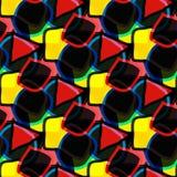 Φωτεινό αφηρημένο γεωμετρικό άνευ ραφής υπόβαθρο Στοκ εικόνα με δικαίωμα ελεύθερης χρήσης