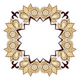 Φωτεινό αφηρημένο σχέδιο με το διάστημα για το κείμενο, ένα στεφάνι των τριαντάφυλλων Στοκ Εικόνα