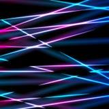 Φωτεινό αφηρημένο υπόβαθρο λωρίδων ακτίνων λέιζερ νέου απεικόνιση αποθεμάτων
