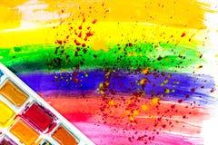 Φωτεινό αφηρημένο χρωμάτων σχεδίων σύνολο χρωμάτων σύστασης άποψης υποβάθρου τοπ Στοκ Φωτογραφία