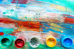 Φωτεινό αφηρημένο χρωμάτων σχεδίων σύνολο χρωμάτων σύστασης άποψης υποβάθρου τοπ Στοκ Εικόνες