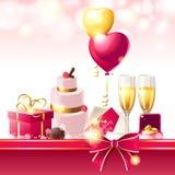 Γαμήλιο υπόβαθρο Στοκ Εικόνες