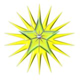φωτεινό ελαφρύ αστέρι Στοκ φωτογραφίες με δικαίωμα ελεύθερης χρήσης