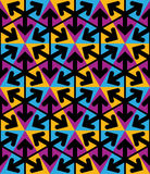 Φωτεινό εξαιρετικό γεωμετρικό άνευ ραφής σχέδιο με τα τρίγωνα α Στοκ Εικόνες