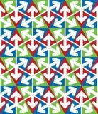 Φωτεινό εξαιρετικό γεωμετρικό άνευ ραφής σχέδιο Στοκ Εικόνες