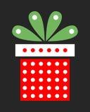 Φωτεινό εορταστικό δώρο Συσκευασία Χριστουγέννων Έκπληξη στο κόμμα διάνυσμα απεικόνιση αποθεμάτων