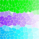 Φωτεινό ζωηρόχρωμο υπόβαθρο Tricolor Χρωματισμένα χαλίκια πράσινος, μπλε, πορφύρα - Vektorgrafik διανυσματική απεικόνιση