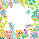 Φωτεινό ζωηρόχρωμο floral υπόβαθρο για το όμορφο σχέδιο διανυσματική απεικόνιση