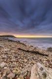 Φωτεινό ηλιοβασίλεμα λουρίδων στοκ εικόνες