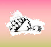 φωτεινό διάνυσμα εικόνων λουλουδιών ανθοδεσμών Διανυσματικό εικονίδιο για την παρουσίαση, κατάρτιση, μάρκετινγκ, σχέδιο, Ιστός Στοκ Εικόνες