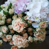 φωτεινό διάνυσμα εικόνων λουλουδιών ανθοδεσμών Στοκ Εικόνα