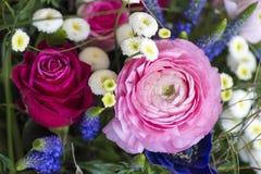 φωτεινό διάνυσμα εικόνων λουλουδιών ανθοδεσμών Στοκ Φωτογραφίες