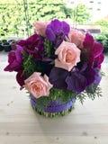 φωτεινό διάνυσμα εικόνων λουλουδιών ανθοδεσμών Στοκ εικόνες με δικαίωμα ελεύθερης χρήσης