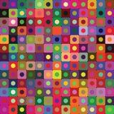 Φωτεινό διανυσματικό υπόβαθρο των κύκλων και των στρογγυλευμένων τετραγώνων Στοκ Φωτογραφίες