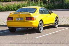 Φωτεινό κίτρινο λίφτινγκ Toyota Celica GT Στοκ φωτογραφία με δικαίωμα ελεύθερης χρήσης