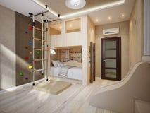 Φωτεινό και άνετο σύγχρονο δωμάτιο παιδιών ` s Στοκ Φωτογραφία