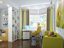 Φωτεινό και άνετο δωμάτιο στο σύγχρονο ύφος Στοκ Εικόνες
