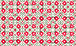 Φωτεινό καλοκαίρι, σχέδιο άνοιξης, υπόβαθρο Κόκκινα και πράσινα χρώματα πρότυπο άνευ ραφής στοκ εικόνες
