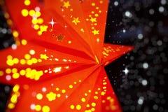 Φωτεινό κόκκινο αστέρι Χριστουγέννων Στοκ εικόνα με δικαίωμα ελεύθερης χρήσης