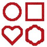 Φωτεινό κόκκινο πλαίσιο των μικρών τριγώνων ball color crystal illustration magic set vector Στοκ φωτογραφίες με δικαίωμα ελεύθερης χρήσης